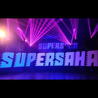 Supersaha laser show